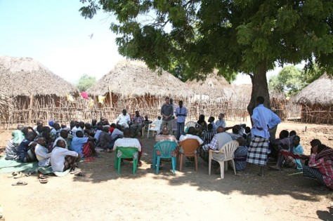 Summary of the Sentinel Project's work shared with residents of the Kipao village.